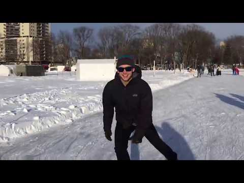 Skating on the Plains of Abraham in Québec City.
