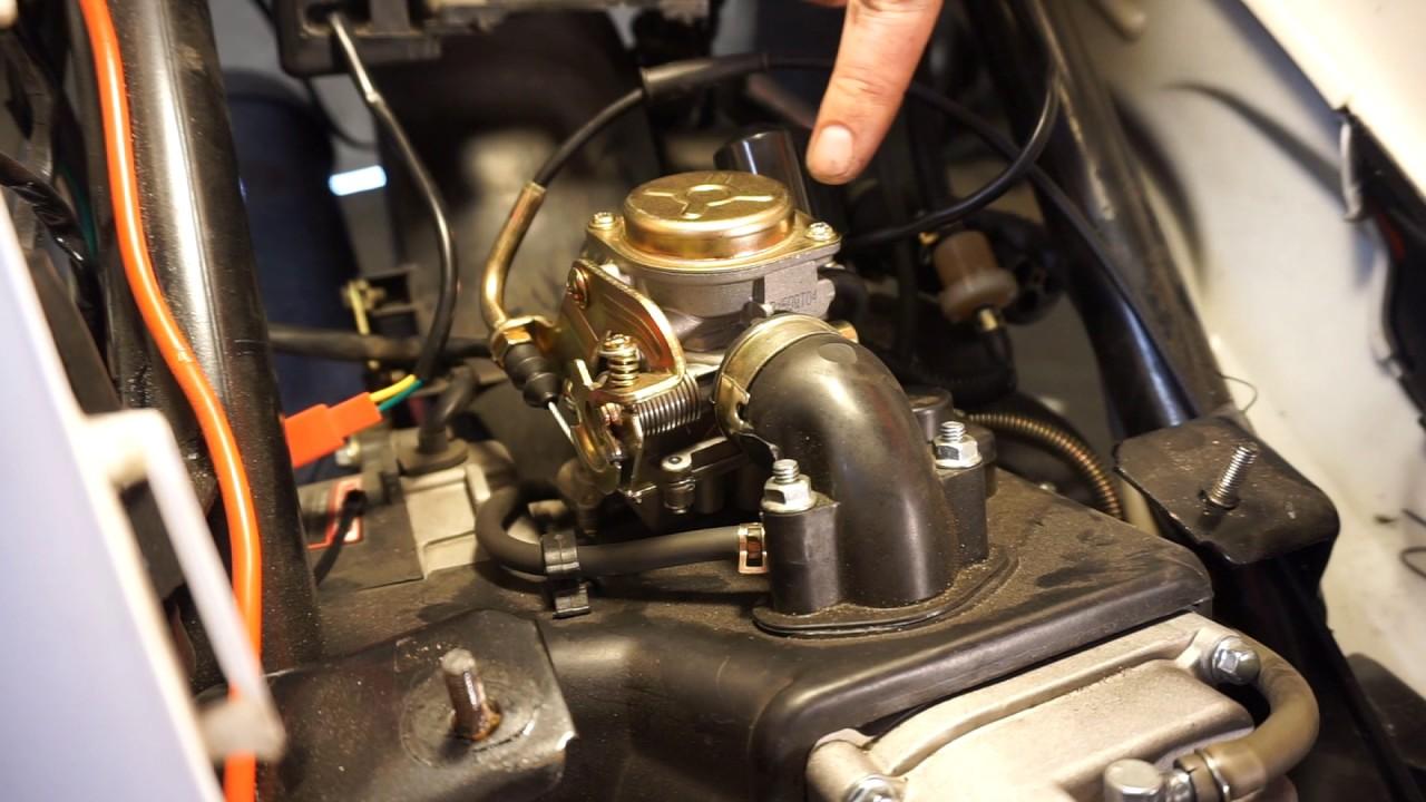50cc scooter carburetor install [ 1280 x 720 Pixel ]