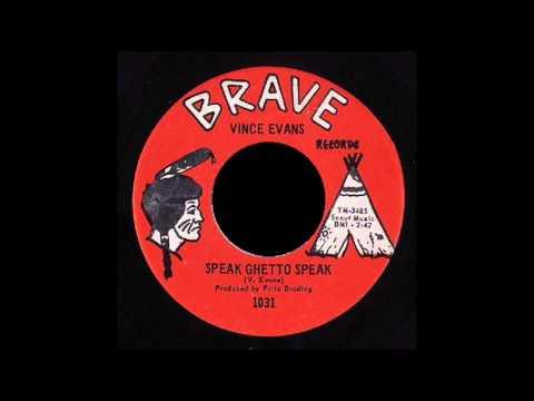 Vince Evans  - Speak Ghetto Speak