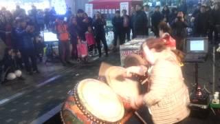 버드리와 찌지리 북 장구 공연