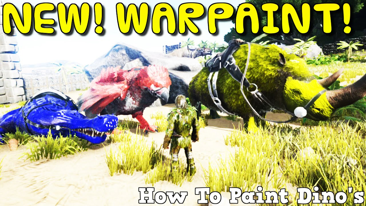 ARK:Survival Evolved Xbox One - NEW! WAR PAINT! - HOW TO ...