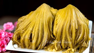 Pickled Mustard Greens recipe (Quick & Simpest) – Dưa Cải Muối Vàng giòn