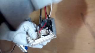 Instalar 3 lámparas en paralelo y 2 contactos (método de corto circuito)