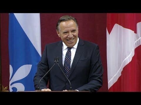 Discours du nouveau premier ministre du Québec