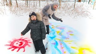 3 Colors Challenge Alex si Mama Deseneaza pe Zapada