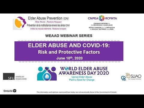 Elder Abuse & COVID-19: Risk Factors & Protective Factors