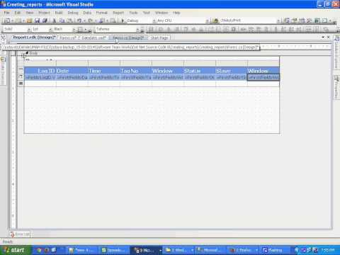 how to create ssrs report in visual studio 2008