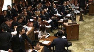 地震発生時 国会内