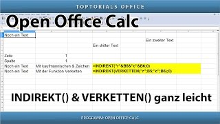INDIREKT() & VERKETTEN() ganz einfach (OpenOffice Calc)