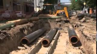 Капитальный ремонт теплосетей по ул. Ижорской.(, 2014-08-20T06:27:28.000Z)