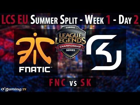 Fnatic vs SK Gaming - LCS EU 2015 - Summer Split - Week 1 - Day 2 - FNC vs SK [FR]