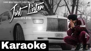 Just Listen Full Karaoke With Lyrics Sidhu Mosse Wala | Latest Punjabi Songs karaoke