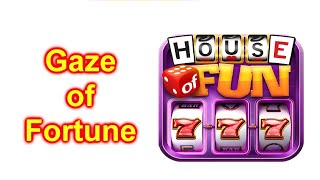 """HOUSE OF FUN Casino Slots Game How To Play """"GAZE OF FORTUNE"""" Cell   Phone"""