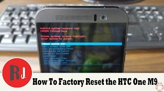 How to Manually Wipe data Factory reset the HTC One M9 in Recovery
