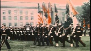 Inspector General of German Federal Armed Forces Maizière receives US Medal of Le...HD Stock Footage