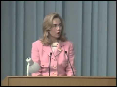 InBeijingIn1995,HillaryClintonSaysThatWomen'sRightsAreHumanRights