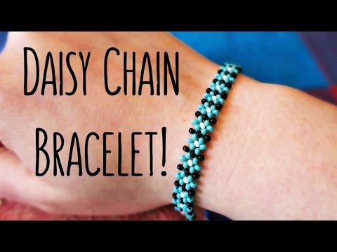 DIY Easy Daisy Chain Seed Bead Bracelet // Bead Weaving // ¦ The Corner of Craft