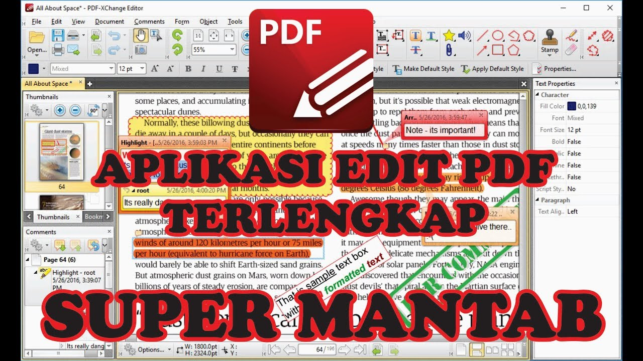 Cara Edit File Pdf Menggunakan Aplikasi Pdf Exchange Editor Youtube