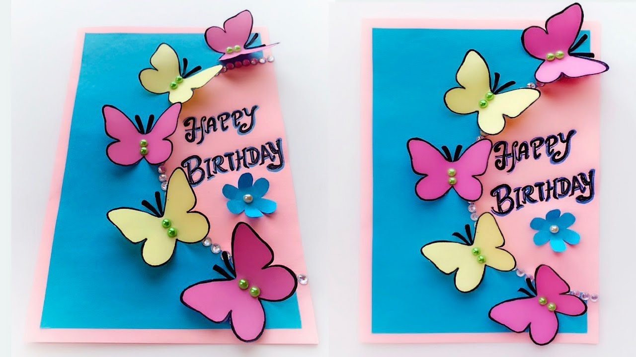 Butterfly Birthday Card - Easy DIY - YouTube