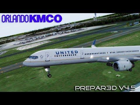[P3DV4 5] United Airlines   Boeing 757-300   Departure Orlando Intl KMCO