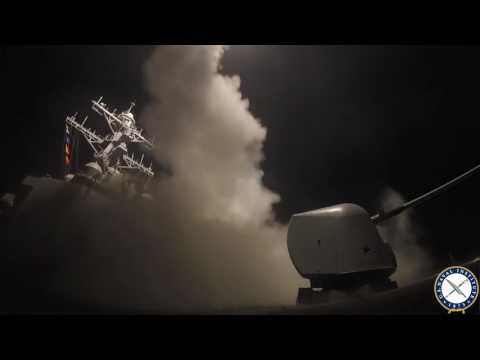 USS Porter Launches Tomahawk Strike on Syrian Air Base