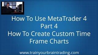MetaTrader 4 - Deel 4 - het Maken van Aangepaste tijdsbestek kaart en Profielen -Train Je Hersenen Trading