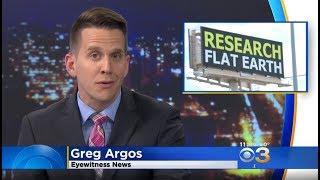 CBS Philadelphia covers Flat Earth billboard - ORIGINAL COPY ✅