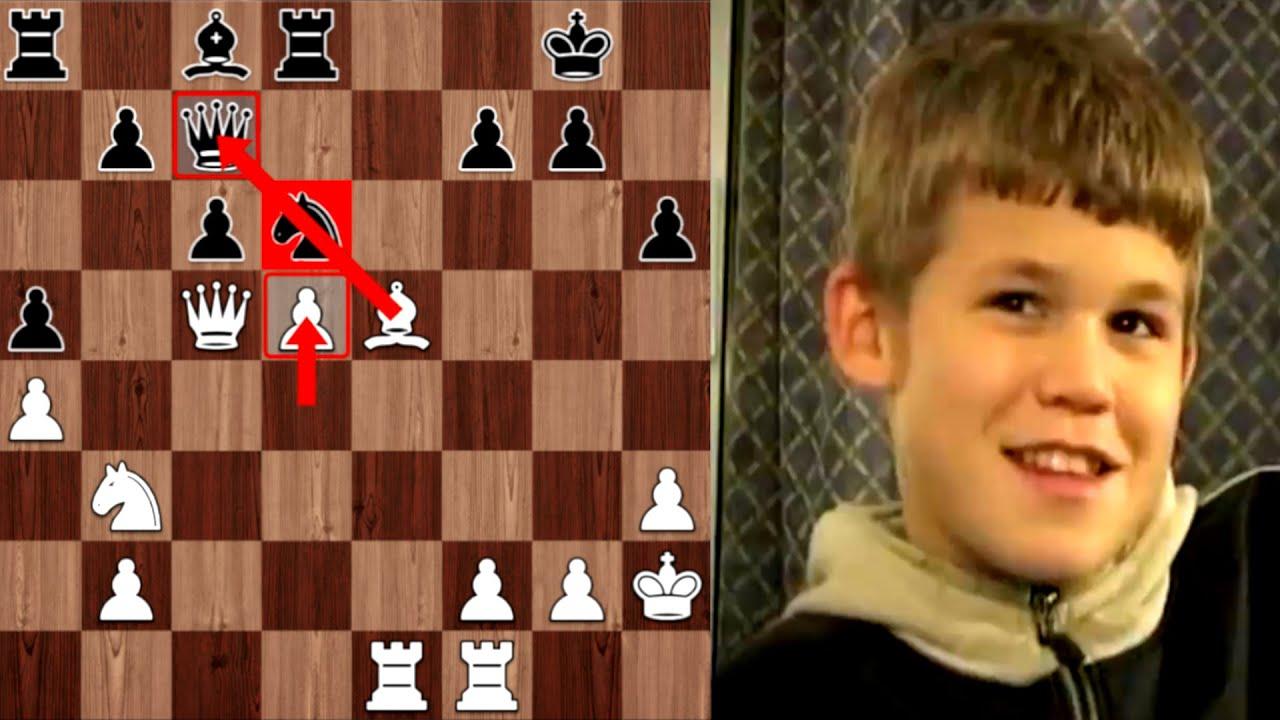 БИТВА ЧЕМПИОНОВ! 13-летний Магнус Карлсен АТАКУЕТ Гарри Каспарова! СЕНСАЦИОННАЯ партия! Шахматы