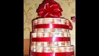 ДЕКОРАТИВНЫЙ ТОРТ ИЗ ДОЛЛАРОВ $$$.  CAKE MADE FROM REAL DOLLARS:):)
