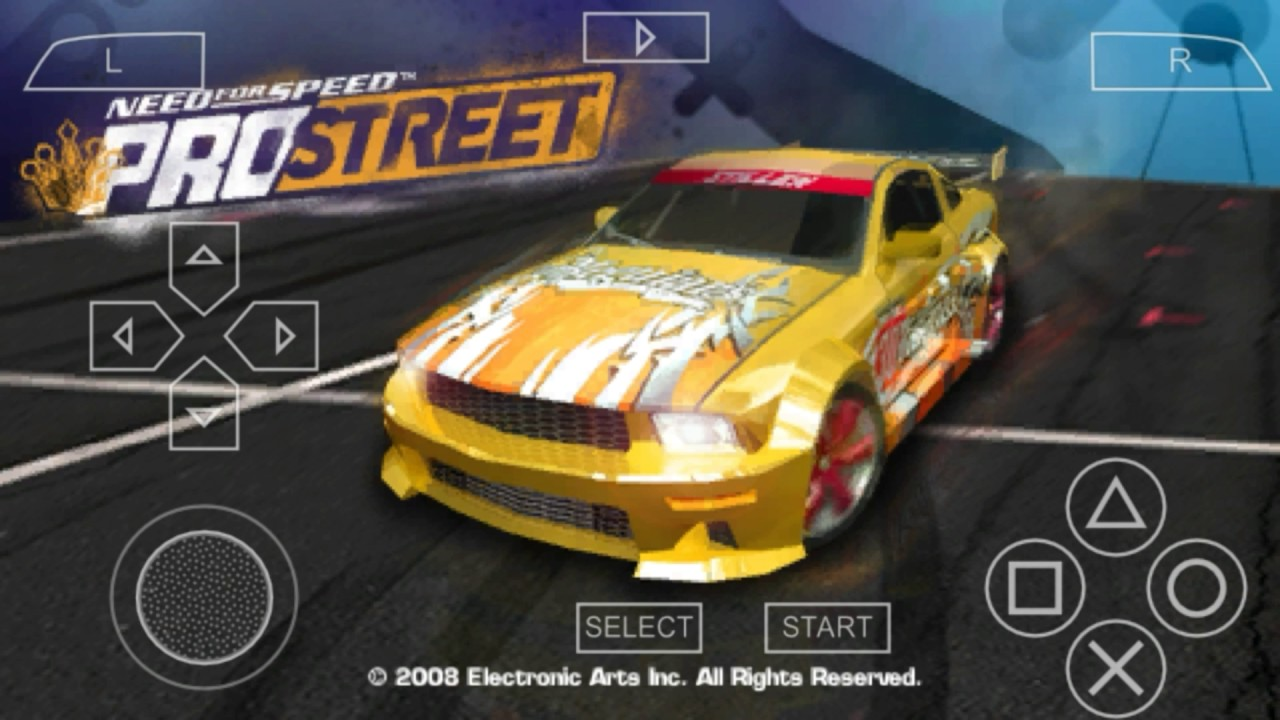 need for speed prostreet psp cso