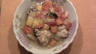 Русская кухня: Суп из красной рыбы
