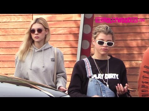 Sofia Richie & Nicola Peltz Go Shopping At Maxfield Before Lunch At Jon & Vinny's Pizza 12.14.16