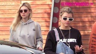 Sofia Richie & Nicola Peltz Go Shopping At Maxfield Before Lunch At Jon & Vinny