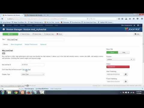 Cara Menampilkan Live Chat Menggunakan My Live Chat Di Joomla 3.x