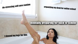 PREPARING FOR BACK TO SCHOOL | self care, & organizing