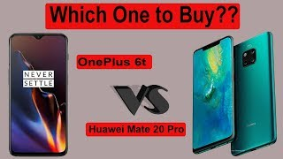 Huawei Mate 20 Pro vs OnePlus 6T Comparison - Flagship Phone ?
