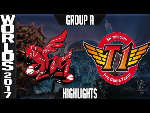AHQ vs SKT Highlights | 2017 World Championship Group A Worlds AHQ e Sports Club v SK Telecom T1