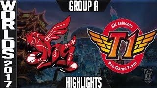 AHQ vs SKT Highlights | 2017 World Championship Group A Worlds AHQ e Sports Club v SK Telecom T1