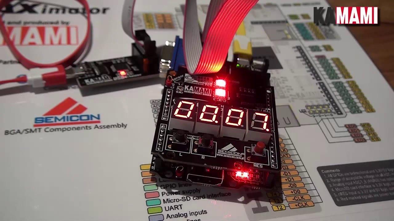 MAXimator (Altera MAX10 FPGA) example project: pomodoro timer (VHDL)