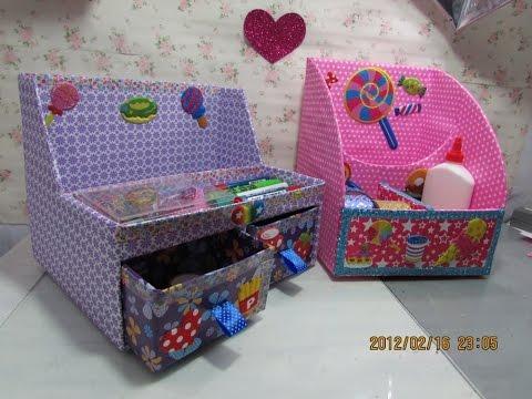 Diy cajas organizadoras de cart n cardboard organizer - Cajas decoradas para bebes ...