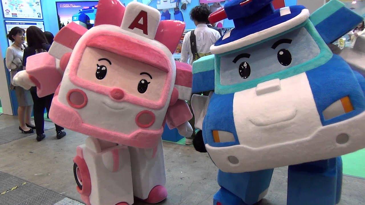 ロボカーポリー 着ぐるみ 東京おもちゃショー2013