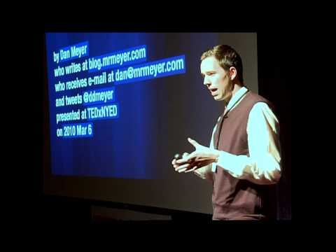 Dan Meyer at TEDxNYED