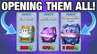 OPENING EVERY CHEST!!!! Clash Royale SUPER MAGICAL CHEST OPENING!