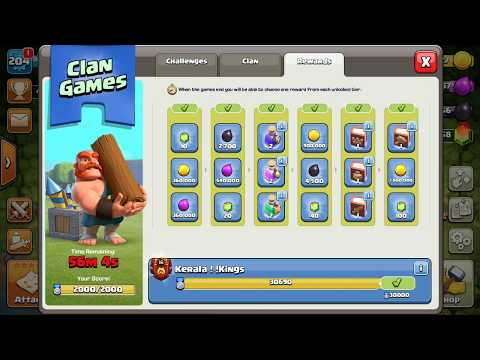 GEM GIFTS / KERALA KINGS/ HAPPY NEW YEAR 2018./ CLASH OF CLANS.