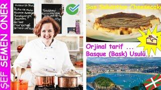 Bask Cheesecake - San Sebastian Cheesecake - Semen Öner - Yemek Tarifleri