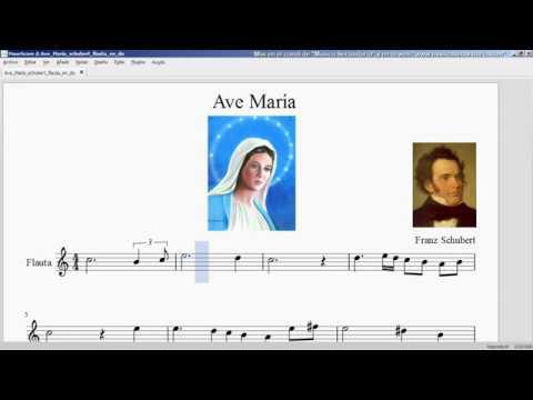 Ave María. Franz Schubert. Partitura flauta