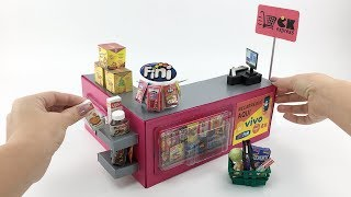 como fazer um mercado para barbie e outras bonecas