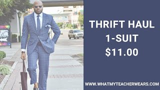 Goodwill Thrift Haul | DIY Alterations | Affordable Dapper Suit | Tailor Blazer | Lookbook