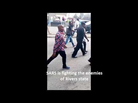 protest in port harcourt in support of SARS - Support SARS