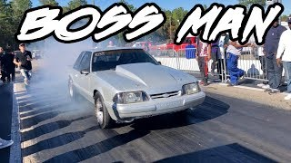 NITROUS MUSTANG IS NAMED BOSS MAN AND IT REALLY RUNS LIKE A BOSS! HARD NITROUS HIT